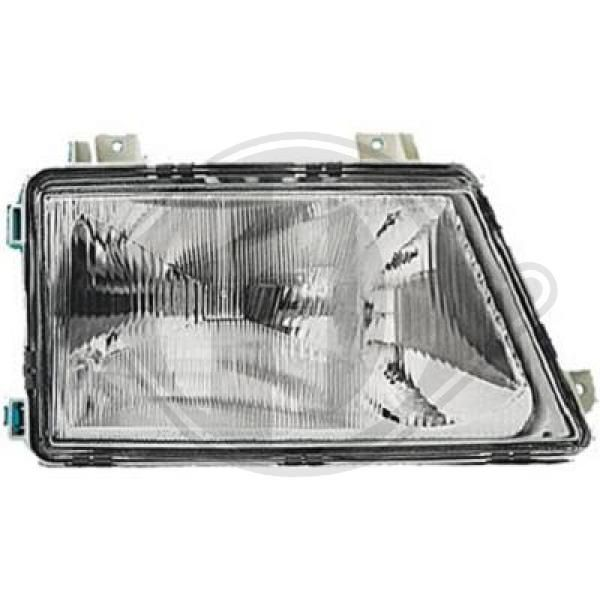 DIEDERICHS  1661980 Главен фар за автомобили с регулиране на светлините (пневматично)