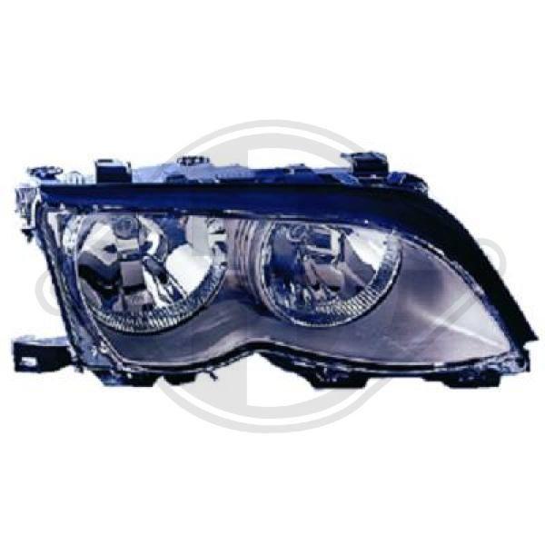 DIEDERICHS  1215087 Главен фар за автомобили с регулиране на светлините