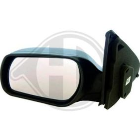 DIEDERICHS Side view mirror Left, Complete Mirror, Convex, Electronically foldable, for electric mirror adjustment, Primed