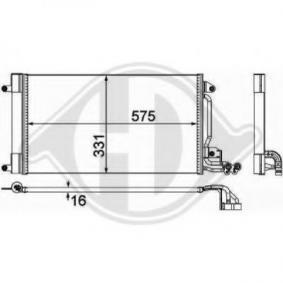 Kondensator, Klimaanlage mit OEM-Nummer 6R0 820 411 T