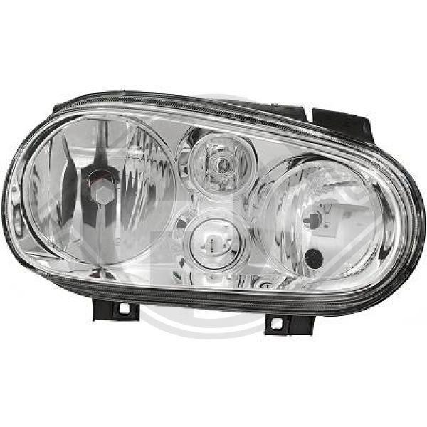 DIEDERICHS  2213088 Главен фар за автомобили с регулиране на светлините (електрическо), за дясно движение