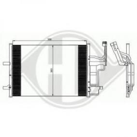 Condensador MAZDA 3 (BK) 1.4 de Año 10.2003 84 CV: Condensador, aire acondicionado (8561801) para de DIEDERICHS