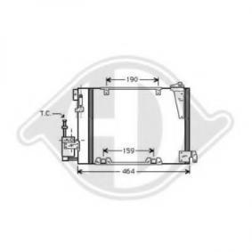 Kondensator, Klimaanlage Netzmaße: 380x380 mit OEM-Nummer 9119176