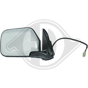 DIEDERICHS Side view mirror Left, Complete Mirror, for electric mirror adjustment, Chrome