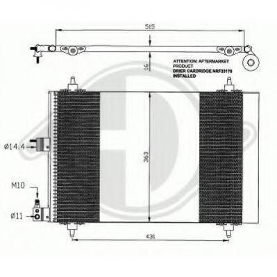 DIEDERICHS  8407100 Kondensator, Klimaanlage