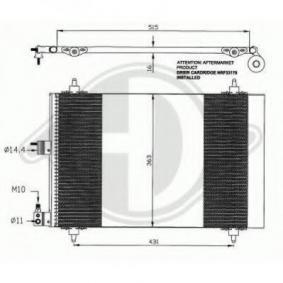 Kondensator, Klimaanlage mit OEM-Nummer 96.459.747.80