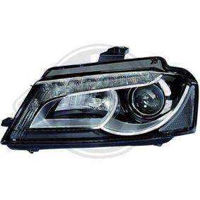 Hauptscheinwerfer für Fahrzeuge ohne Kurvenlicht, für Rechtsverkehr mit OEM-Nummer N 107 21805