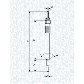 Glühkerze Länge über Alles: 139mm, Gewindemaß: M10X1,25 mit OEM-Nummer 367102F001