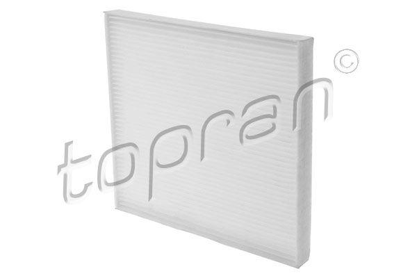 TOPRAN  207 624 Filter, Innenraumluft Länge: 267mm, Breite: 216mm, Höhe: 20mm