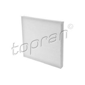 Filter, Innenraumluft Länge: 267mm, Breite: 216mm, Höhe: 20mm mit OEM-Nummer 68 08 622