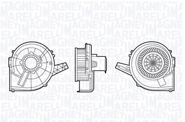 MAGNETI MARELLI  069412666010 Innenraumgebläse Spannung: 12V