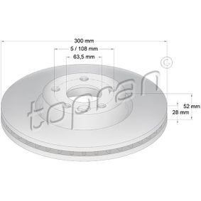 Bremsscheibe Bremsscheibendicke: 28mm, Felge: 5-loch, Ø: 300mm mit OEM-Nummer 1500158