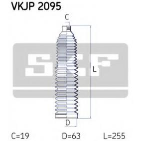 Bellow Set, steering Height: 255mm with OEM Number 8E0 419 831