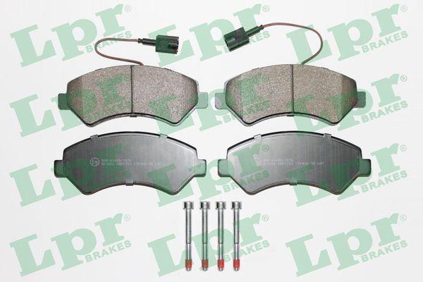 LPR  05P1721 Bremsbelagsatz, Scheibenbremse Breite: 169,1mm, Höhe: 69,1mm, Dicke/Stärke: 19mm