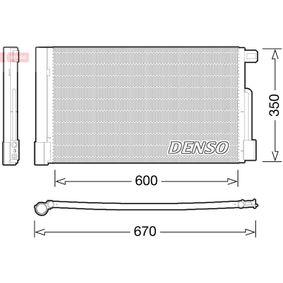 Kondensator, Klimaanlage Netzmaße: 600x350, Kältemittel: R 134a mit OEM-Nummer 39 035 152