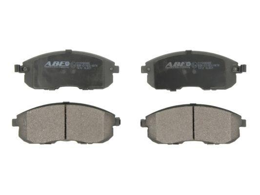 ABE  C11096ABE Bremsbelagsatz, Scheibenbremse Breite: 137,3mm, Höhe: 54,4mm, Dicke/Stärke: 17,6mm