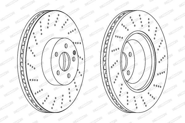 FERODO PREMIER DDF1662C Bremsscheibe Bremsscheibendicke: 36mm, Lochanzahl: 5, Ø: 360mm