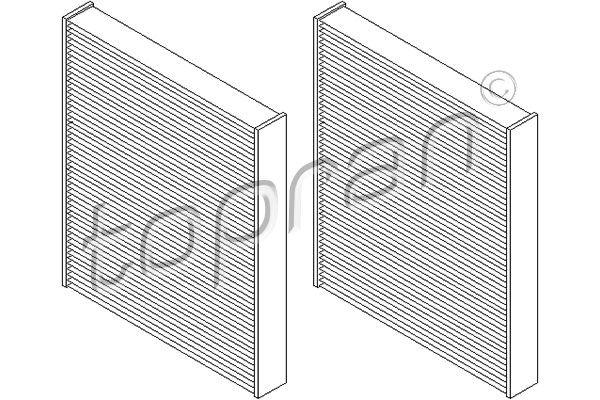 Filtro de aire acondicionado TOPRAN 501 647 6411970000015