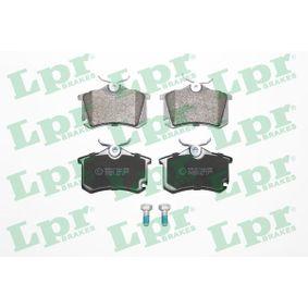 LPR Bremsbelagsatz, Scheibenbremse 05P1508 für AUDI A3 (8P1) 1.9 TDI ab Baujahr 05.2003, 105 PS