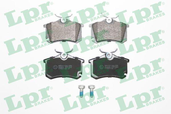 LPR  05P1508 Bremsbelagsatz, Scheibenbremse Breite: 87,2mm, Höhe: 53mm, Dicke/Stärke: 17mm