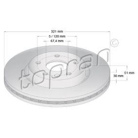 Bremsscheibe Bremsscheibendicke: 30mm, Felge: 5-loch, Ø: 321mm mit OEM-Nummer 0569422