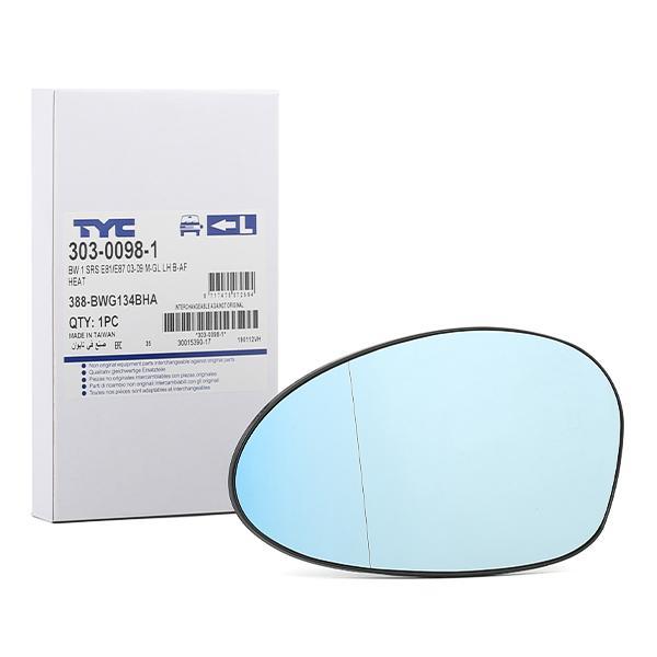 Außenspiegelglas 303-0098-1 TYC 303-0098-1 in Original Qualität
