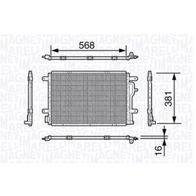 MAGNETI MARELLI Kondensator, Klimaanlage 350203640000 für AUDI A6 (4B2, C5) 2.4 ab Baujahr 07.1998, 136 PS