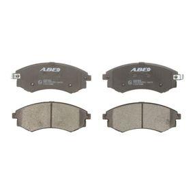 Bremsbelagsatz, Scheibenbremse Breite: 137mm, Höhe: 54,5mm, Dicke/Stärke: 16,8mm mit OEM-Nummer 5810134A21