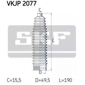 Bellow Set, steering VKJP 2077 SCIROCCO (137, 138) 2.0 R MY 2015