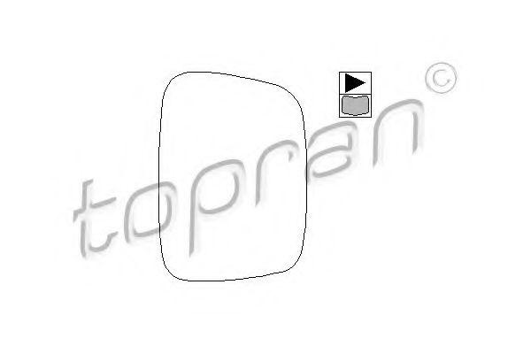 TOPRAN  112 183 Cristal de espejo, retrovisor exterior