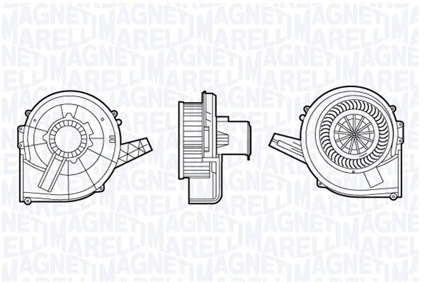 MAGNETI MARELLI  069412664010 Innenraumgebläse Spannung: 12V