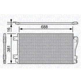 Kondensator, Klimaanlage mit OEM-Nummer 77 01 049 665