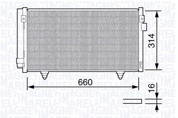 MAGNETI MARELLI  350203657000 Kondensator, Klimaanlage