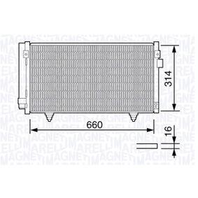 Kondensator, Klimaanlage mit OEM-Nummer 73210-SC000
