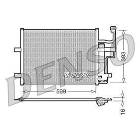 Condensador MAZDA 3 (BK) 1.4 de Año 10.2003 84 CV: Condensador, aire acondicionado (DCN44003) para de DENSO