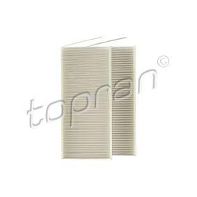 Filter, Innenraumluft Länge: 238mm, Breite: 108mm, Höhe: 20mm mit OEM-Nummer 8660 003 084