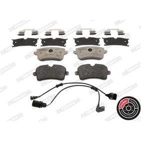 Kit de plaquettes de frein, frein à disque Hauteur 1: 59mm, Hauteur 2: 60,1mm, Épaisseur: 17,3mm avec OEM numéro 4H0 698 451 A