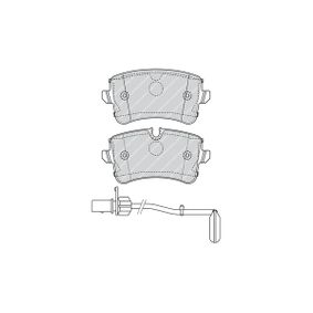 Kit de plaquettes de frein, frein à disque N° de référence FDB4393 120,00€