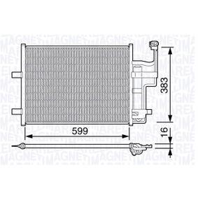 Condensador MAZDA 3 (BK) 1.4 de Año 10.2003 84 CV: Condensador, aire acondicionado (350203667000) para de MAGNETI MARELLI