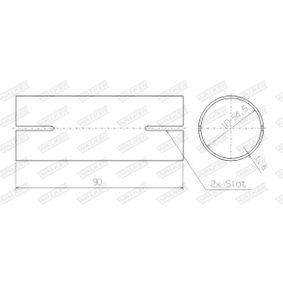 WALKER Rohrverbinder, Abgasanlage 82466 für AUDI COUPE (89, 8B) 2.3 quattro ab Baujahr 05.1990, 134 PS