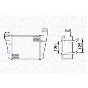 MAGNETI MARELLI Ladeluftkühler 351319203410 für AUDI A4 (8E2, B6) 1.9 TDI ab Baujahr 11.2000, 130 PS