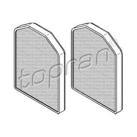 Filter, Innenraumluft Länge: 280mm, Breite: 2005mm, Höhe: 72mm mit OEM-Nummer 4D0898438 A