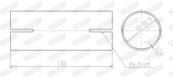 Montagesatz, Schalldämpfer 82480 WALKER 82480 in Original Qualität