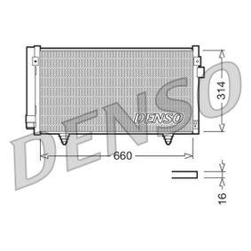 Kondensator, Klimaanlage Netzmaße: 660x314x16, Kältemittel: R 134a mit OEM-Nummer 73210-SC012