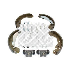 Bremsensatz für OPEL CORSA C (F08, F68) 1.2 75 PS ab Baujahr 09.2000 MAPCO Bremsensatz, Trommelbremse (9731) für