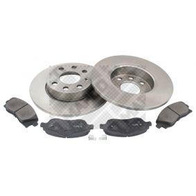 Bremsensatz für OPEL CORSA C (F08, F68) 1.2 75 PS ab Baujahr 09.2000 MAPCO Bremsensatz, Scheibenbremse (47684) für