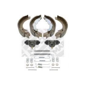 Bremsensatz für OPEL CORSA C (F08, F68) 1.2 75 PS ab Baujahr 09.2000 MAPCO Bremsensatz, Trommelbremse (9730) für