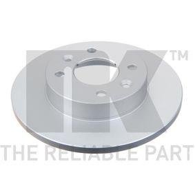 NK Brake disc kit Solid, Coated