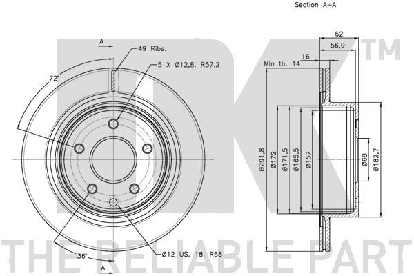 Disc Brakes NK 312261 expert knowledge