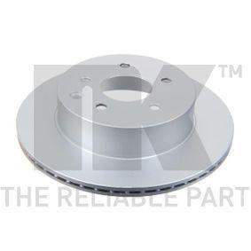 Brake Disc 312261 Qashqai / Qashqai +2 I (J10, NJ10) 1.6 dCi MY 2013